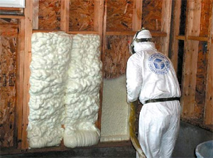 One of the best ways to insulate an indoor paintball field is with blown foam insulation
